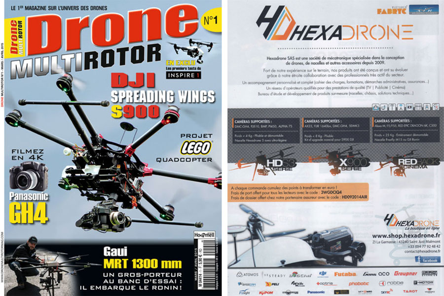 Couverture drone multirotor magazine hexadrone pictures fabryc